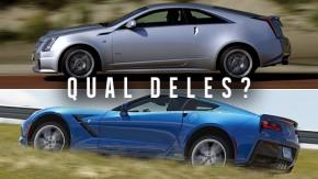 America, f*ck yeah! Você vai de Cadillac CTS-V ou Chevrolet Corvette Stingray?