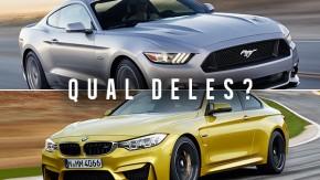A batalha do ano que vem: Ford Mustang vs. BMW Série 4