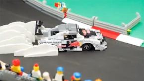 Um Mazda RX7 feito de Lego andando de lado em stop-motion é a melhor maneira de esperar a ceia de natal