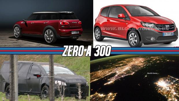 A picape média da Fiat, um novo Focus RS, o Mini quatro-portas e mais!