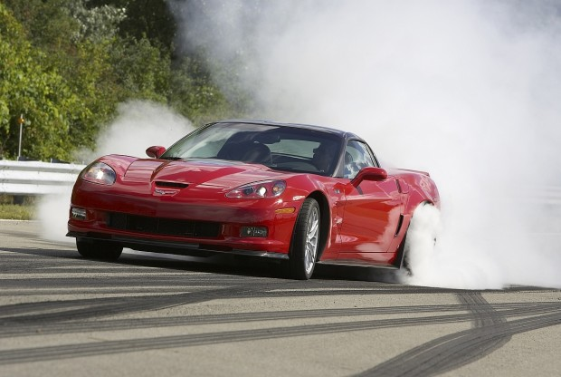 2009 Corvette ZR1 burnout