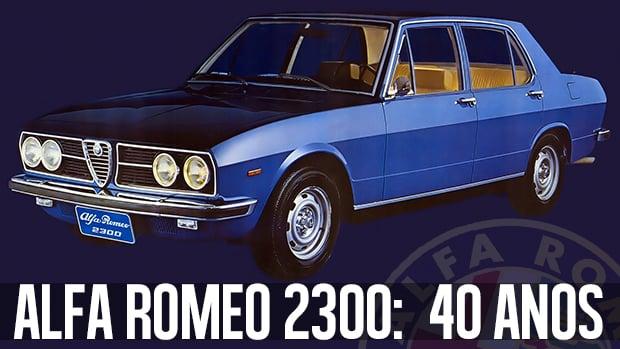 Alfa Romeo 2300: os 40 anos do último <i>cuore sportivo</i>  brasileiro