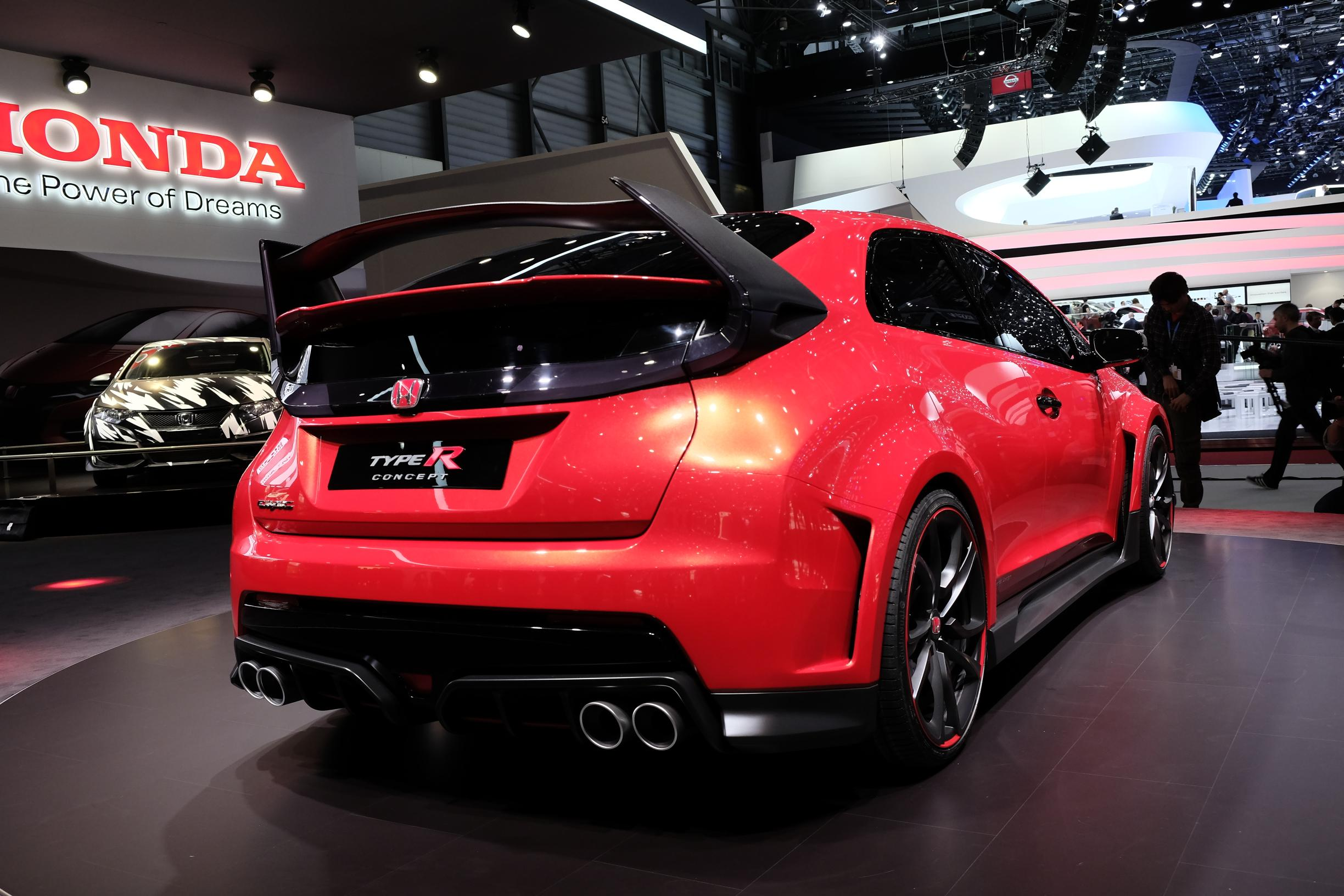 turbo e 280 cv honda civic type r concept promete desempenho extremo. Black Bedroom Furniture Sets. Home Design Ideas