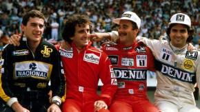 Senna, Prost, Mansell e Piquet: quatro versões desta foto – e a sua origem