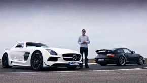 Mercedes-Benz SLS AMG Black Series vs. Porsche 911 GT2 RS: a última batalha