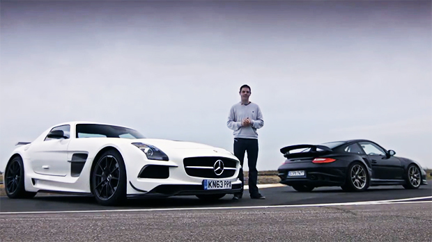 Mercedes Benz SLS AMG Black Series Vs. Porsche 911 GT2 RS: A última