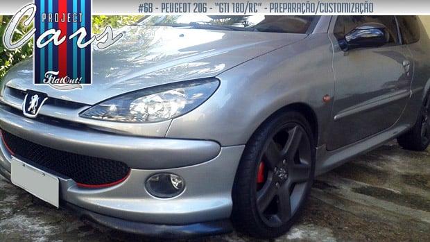 """Ladrão de corações: o Peugeot 206 """"GTi/RC"""" de Wellington Lemes"""