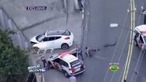 Se for fugir da polícia, que não seja com um Hyundai Veloster pelo trânsito de São Paulo