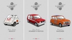 E se os heróis do cinema e da TV tivessem carros baratos?