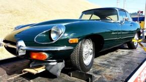 Este Jaguar E-Type foi apreendido com documentação irregular em Santa Catarina