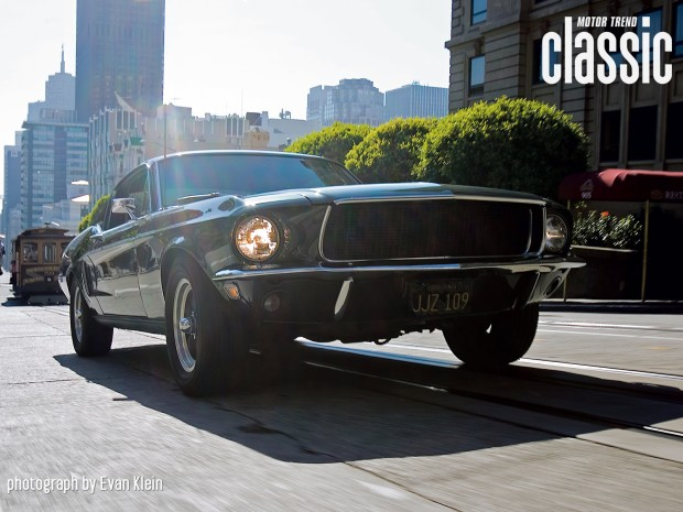 1968-ford-mustang-GT-390-bullitt-replica-front-three-quarters-ground-shot
