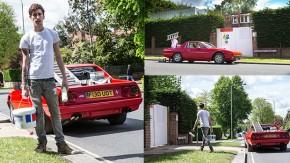 Algum maluco transformou uma raríssima Ferrari 412 em uma picape para pintores!