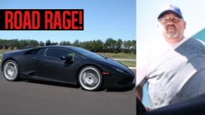 Motorista de Lamborghini Huracán perde a cabeça quando é flagrado por fotógrafo