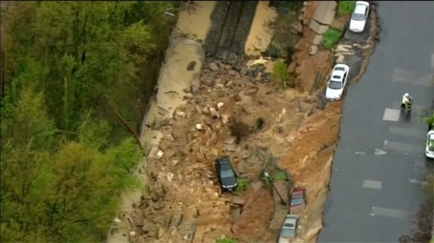 Massive sinkhole opens in Baltimore, Maryland