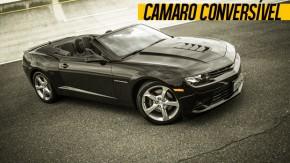 Aceleramos: Camaro Sunrise SS (conversível) a 200 km/h na pista da Chevrolet