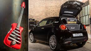 Rock à italiana: guitarra da Alfa Romeo e um MiTo com amplificadores Marshall!