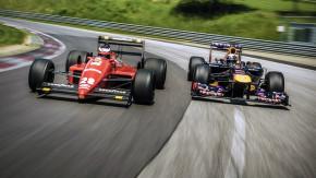 Encontro de gerações: Vettel e Berger trocam de carro e aceleram no circuito da Áustria