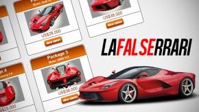 Estes caras estão tentando vender uma réplica (que não existe) da LaFerrari por US$ 29 mil