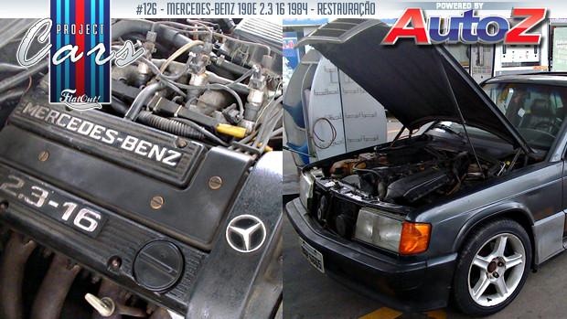 A restauração de um Mercedes-Benz 190E 2.3 16 Cosworth é a história do Project Cars #126
