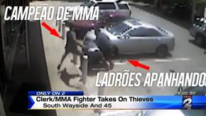 Um lutador de MMA é o melhor dispositivo de segurança para seu posto de gasolina