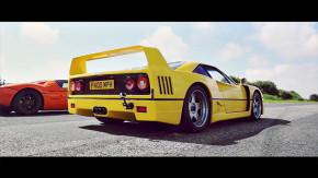 Ferrari F40 vs. Ford GT, Aventador vs. P1… ver supercarros disputando arrancadas é sensacional