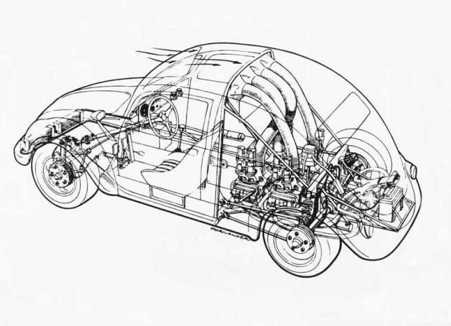 vee engine diagram