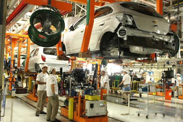 Linha de montagem do Complexo Industrial Automotivo de Gravataí, RS