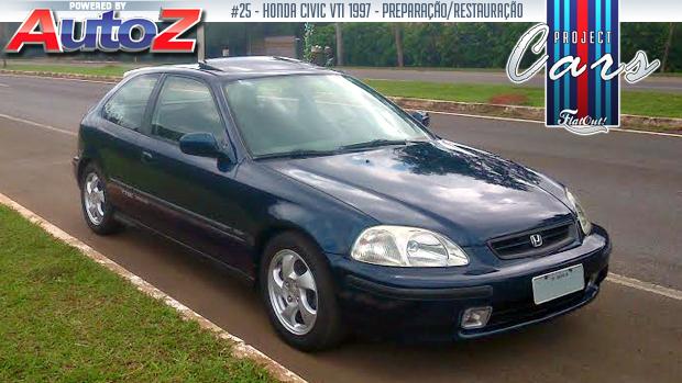 """Project Cars #25: a história do Civic VTi 1997 de Flávio """"Zaca"""" Diniz"""