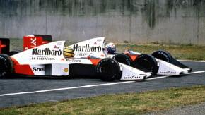 Quando Alain Prost e Ayrton Senna decidiram o campeonato de F1 batendo seus carros