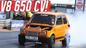 Sim, isto é um Fiat minúsculo com motor V8 Chevrolet de 650 cv