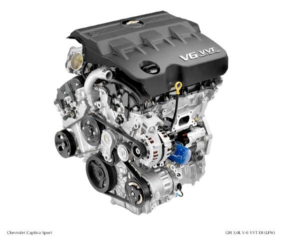 2012 GM 3.0L V-6 VVT DI (LFW) for Chevrolet Captiva Sport