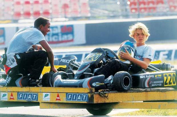 Rosberg-Hamilton-Karting