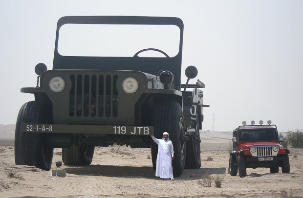 1024px-Sheikh_Hamad_bin_Hamdan_Al_Nahyan_with_largest_model_Willys_jeep_2009