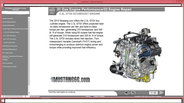 Mustang Training EcoBoost Engine-1
