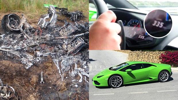 Este acidente com um Lamborghini Huracán a a 315 km h é a coisa mais  assustadora que você vai ver hoje 1065949e8a