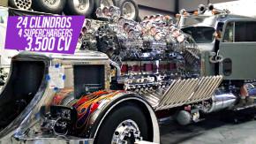 O maior motor de caminhão do mundo tem 24 cilindros, quatro superchargers, 3.500 cv e um ronco assustador