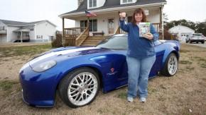 Esta senhora ganhou o Bravado Banshee de <i>Grand Theft Auto</i> – e vendeu o carro