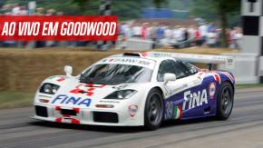 A maior reunião de McLaren F1 GTR já feita e outros clássicos das pistas acelerando no Goodwood Members Meeting ao vivo!