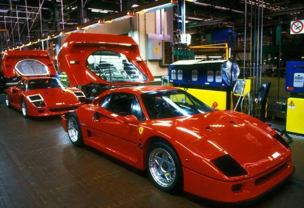 1987 Ferrari F40 production line in Marenello