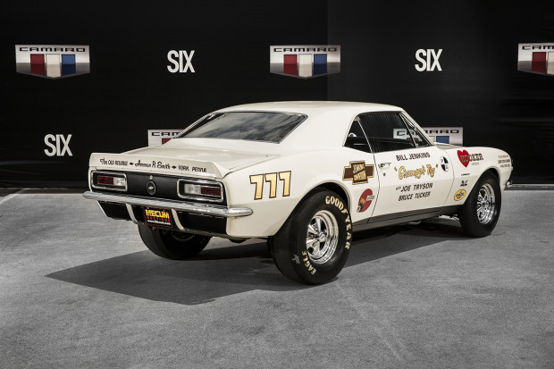 A first-of-its-kind collection of historic Camaro production models and race cars was on display during activities surrounding the introduction of the all-new 2016 Camaro. It included the very first Camaro produced – a 1967 model with VIN #001.