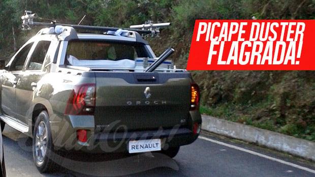 FLAGRA! – Renault Oroch no Brasil: picape Duster já grava sua propaganda de apresentação