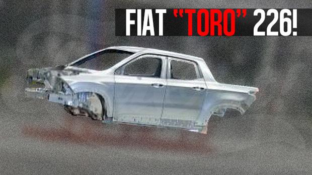 A futura picape média da Fiat, a 226, mostra sua carroceria definitiva