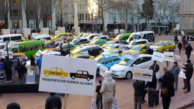 Uber_Protest_Portland_16087787188