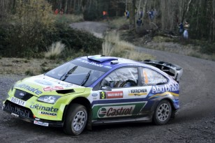 Marcus Gronholm (FIN) / Timo Rautiainen - Ford Focus RS WRC. Shakedown, 2007 Wales Rally GB