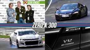 Gear Knobs pode ser o nome do novo programa de Clarkson, Hammond e May, Honda NSX e novo Camaro ZL1 em Nürburgring, um supercarro V12 da Mercedes-AMG e mais!