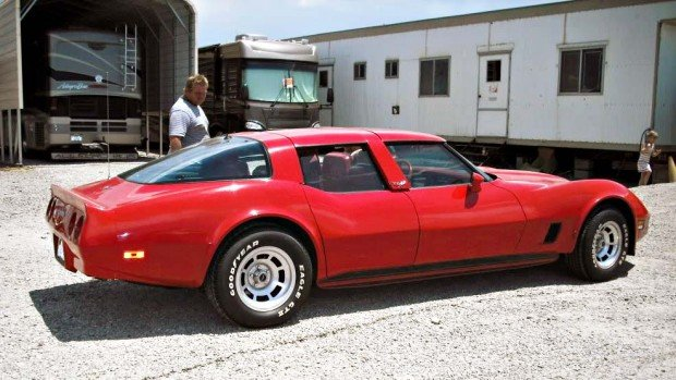 RedFourDoorVette3