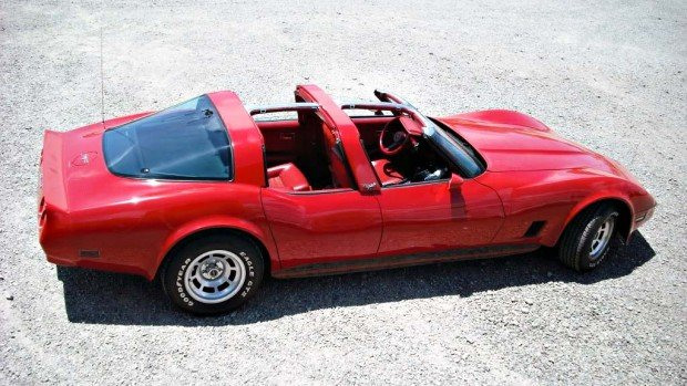RedFourDoorVette7