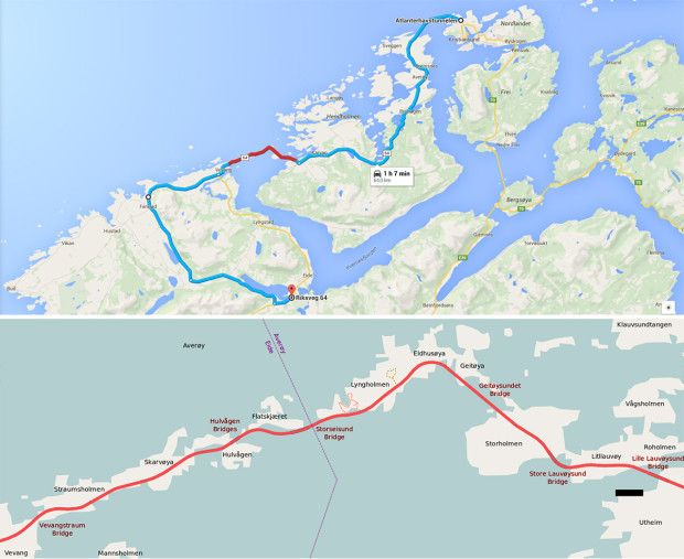 atlantic ocean road map
