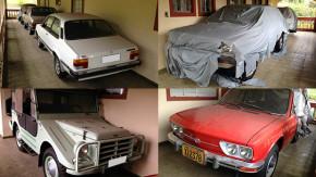 Esta coleção de carros brasileiros dos anos 70 e 80 ficou anos esquecida em uma chácara em São Paulo