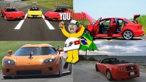 Três Ferrari V8 no Velo Città, test drive no Audi S3 sedã, Koenigsegg CCX-R na Capuava e um Mustang conversível em Miami nos melhores vídeos da semana!
